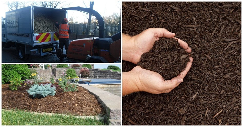 Mulch supplied by Holly Oak Tree Services, Warrington